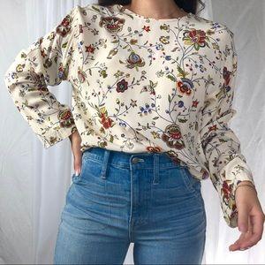 VINTAGE/ silk floral top
